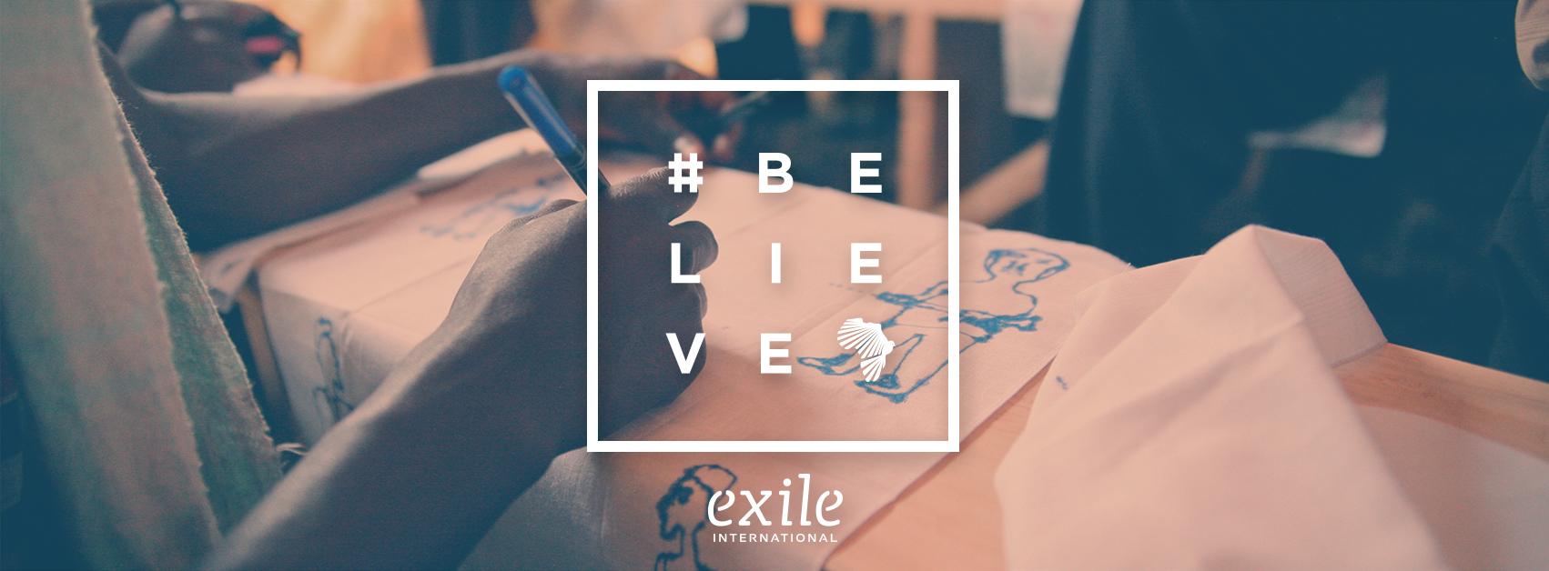 #BELIEVE FB Header Drawing